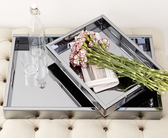 Double the power with reflective trays. image: west elm